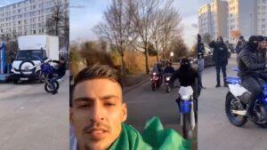 Boef neemt videoclip op in banlieue Frankrijk