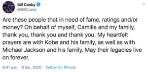 Bill Cosby stuurt Snoop Dogg tweet vanuit bajes